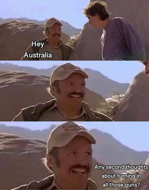 question australia any second thoughts about turning in guns