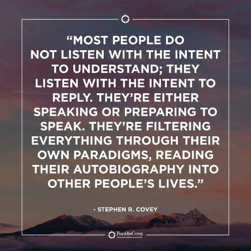 quote covey people listen to reply not understand