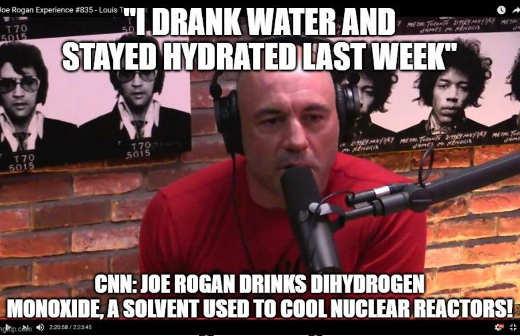 rogan drank water cnn dihydrogen oxygen nurclear reactors