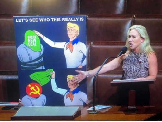 scooby doo reveal ghost green new deal soviet communism