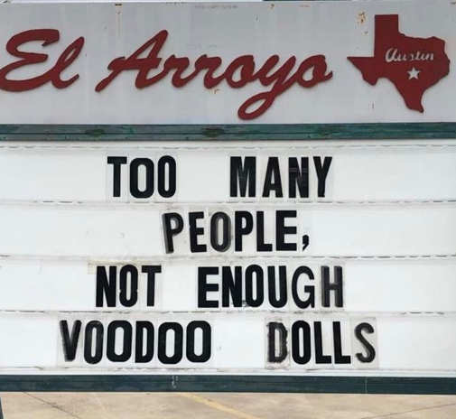sign too many people not enough voodoo dolls