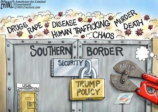 southern border trump lock trafficking drugs chaos biden removing wrench