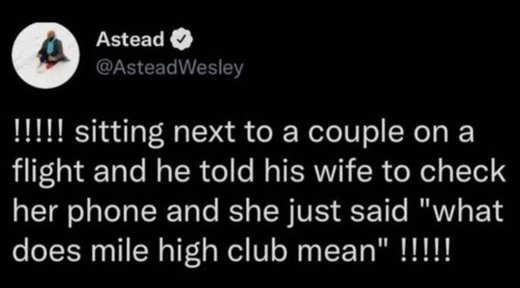 tweet astead couple flight mile high club
