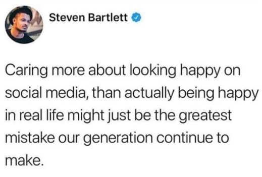 tweet bartlett social media more looking happy than being generation