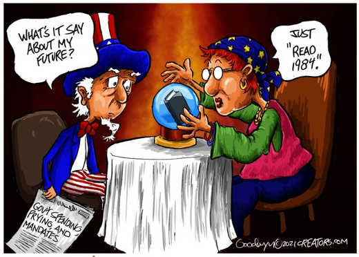 usa uncle sam fortune teller read 1984