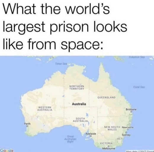 what worlds largest prison looks like from space australia