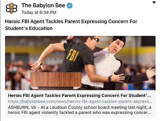 babylon bee heroic fbi agent tackles parent speaking kids education
