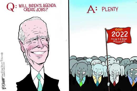 bidens agenda create jobs plenty gop midterm pickups
