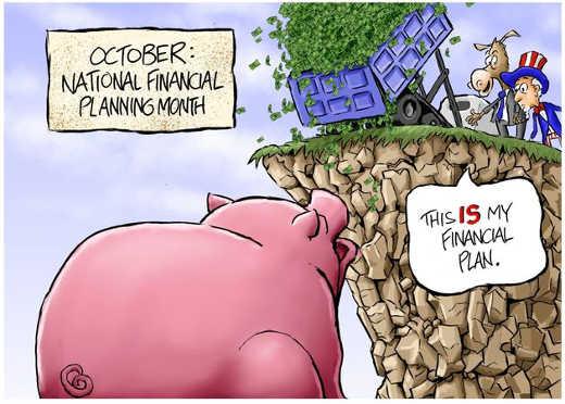 democrat financial plan dump cash pork off cliff