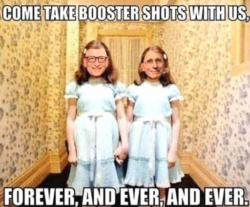 dr fauci bill gates booster shots forever shining twins