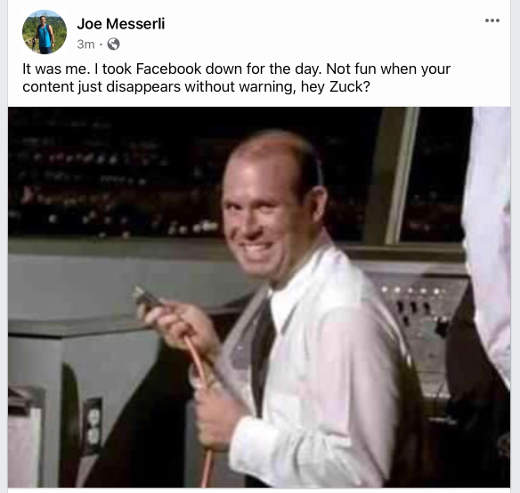 facebook down not fun content disappears no warning
