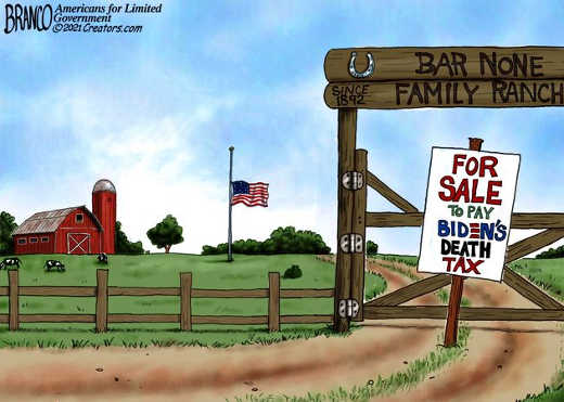 family ranch for sale to pay bidens death tax