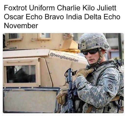 foxtrot uniform charlie fuck joe biden soldier