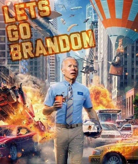 joe biden lets go brandon ryan reynolds walk explosions