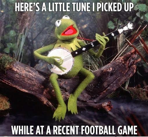 kermit the frog heres little tune picked up recent football game f joe biden