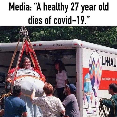 media heavy guy uhaul media healthy 27 year old dies covid