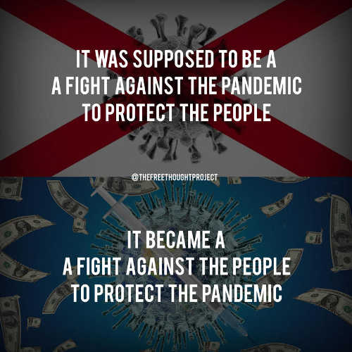 message supposed to be fight against pandemic protect people fight people