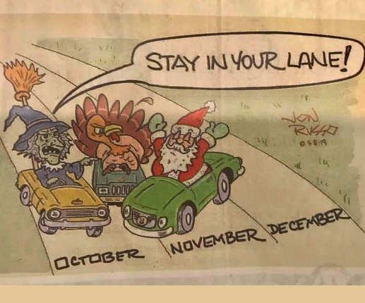 october november december halloween thanksgiving christmas lanes