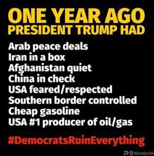 one year ago trump liberals ruin