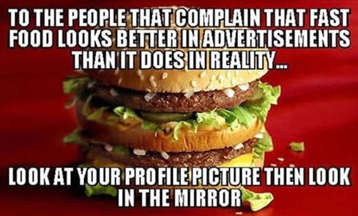 people complain fast food advertisements profile picture