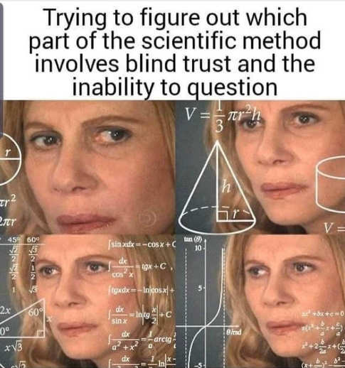 scientific method inability to question blind trust