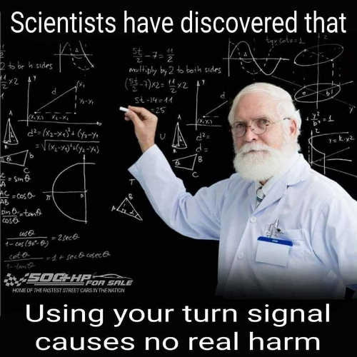 scientists discovered using turn signal causes no real harm