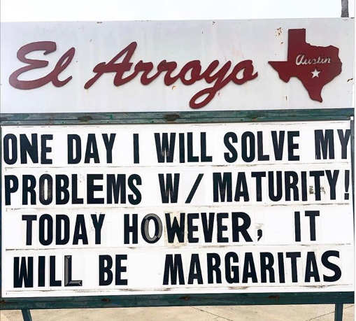 sign solve problems maturity today margaritas