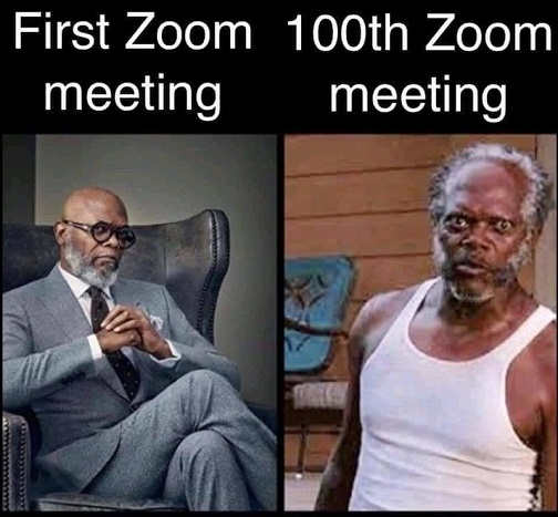 first zoom meeting 100th samual jackson
