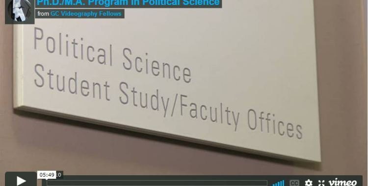 Welcome to the Ph.D./M.A. Program in Political Science - The CUNY Graduate Center (Video)