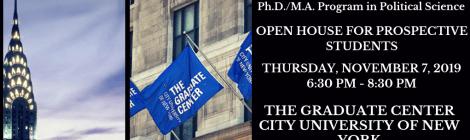 Political Science Open House: Thursday, November 7, 2019, 6:30-8:30pm