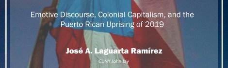 """Comparative Politics Workshop: José A. Laguarta Ramírez: """"Outrageous Chatter,"""" Wednesday, April 22, 4:15pm"""