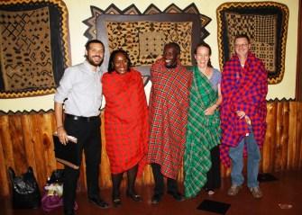 Andrew, Pamela, Kennedy, Beth, and John