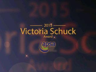 Watch the Victoria Schuck Award