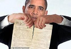 OBAMA RIPS UP CONSTITUTION