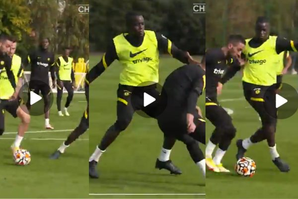 Video: Hakim Ziyech Shows Off Superb Dribbling Skills In Training As He Bags Two Fine Assists