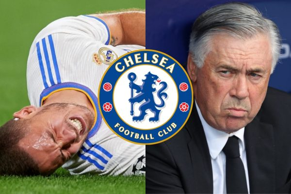 Ancelotti Sends New Message To Chelsea As Eden Hazard Sets To Miss Champions League Clash Amid New Injury