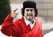 Kadhafi dos pneus..