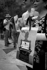 23 de febrero de 2014 se llevaron a cabo en diferentes partes de la República Mexicana concentraciones bajo la convocatoria ¡Prensa, no disparen!, para protestar en contra de la violencia, represión, censura, intimidación, extorsión y asesinatos de periodistas en nuestro país.