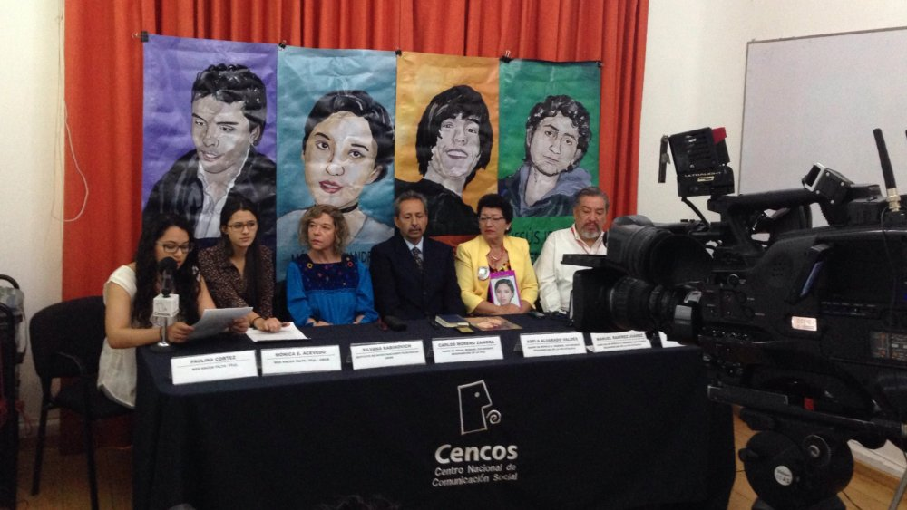 Conferencia de Prensa en Cencos. |Fotografías tomada de redes sociales de Cencos.