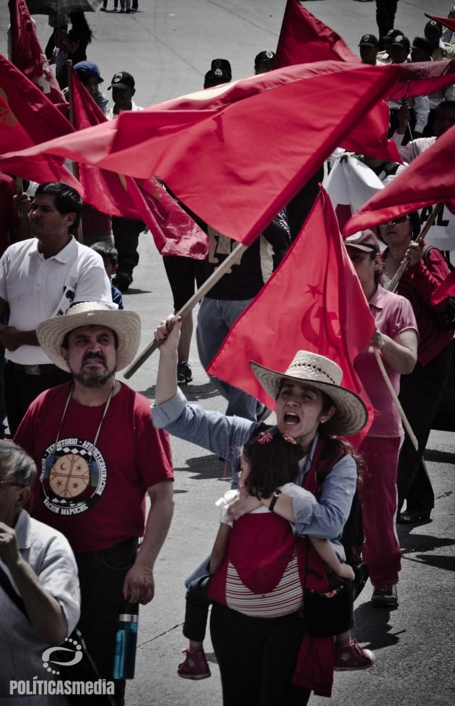 Movilización conmemorativa 1º de mayo, día del trabajo, Ciudad de México. | Fotografía: Mónica Olivares