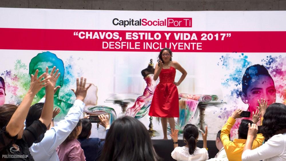 """1er Desfile Incluyente """"Chavos, estilo y vida 2017"""", Ciudad de México. Foto: Paty Olivares."""