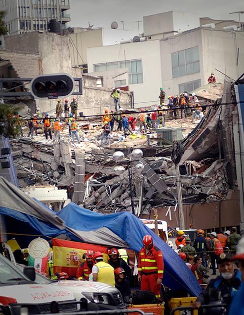 Inmueble que colapsó, ubicado en Álvaro Obregón 286. Fotografía: Chac Nahual