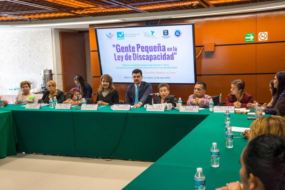 Gente Pequeña en la Ley de Discapacidad, Ciudad de México. Foto: Paty Olivares.