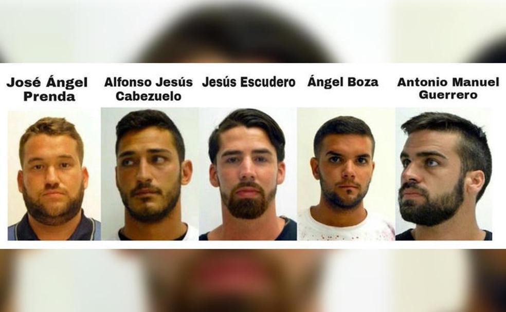 """Imagen retomada del artículo: """"Los miembros de 'La Manada', condenados a 9 años por abuso y no por agresión sexual"""" de: Elcorreo.com"""