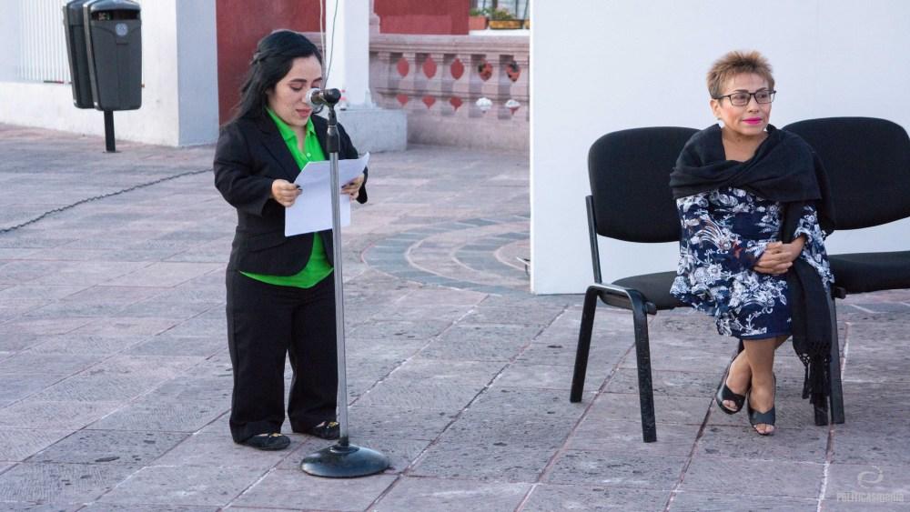 Iluminación de verde del Acueducto, dentro del marco del Día Internacional de las Personas con Talla Baja y el Congreso Nacional de Personas con Talla Baja con sede en Querétaro, 16 de noviembre de 2018. Foto: Paty Olivares.