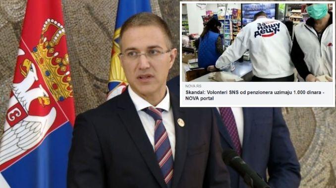 """Laž portala """"Nova.rs"""" da volonteri SNS u Smederevskoj Palanci uzimaju novac penzionerima!"""
