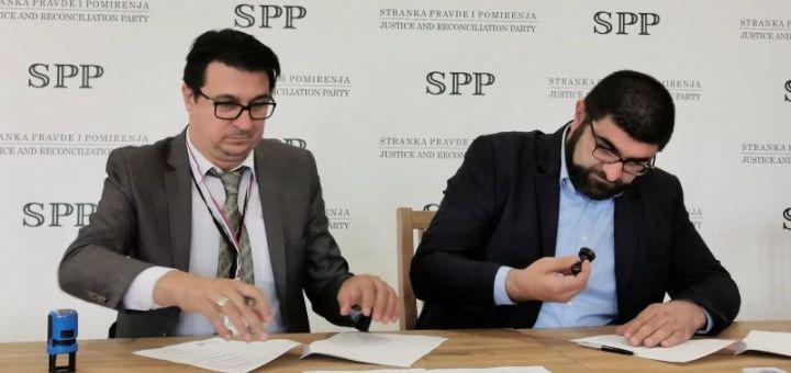 Potpisan sporazum Unije Most sa Strankom pravde i pomirenja