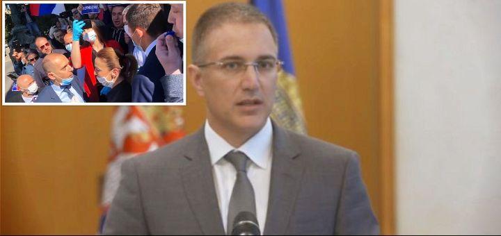 Stefanović: Privedeno 15 osoba zbog napada na poslanike