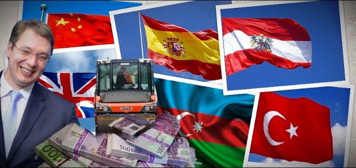 Srbija se zadužila pa dala STRANCIMA poslove vredne PET MILIJARDI EVRA.
