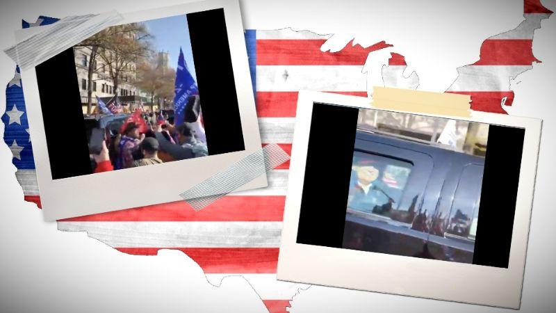 """AMERIKA NA NOGAMA ZBOG IZBORNE PREVARE: """"Marš miliona"""": Tramp iz limuzine pozdravio pristalice u Vašingtonu /video/"""